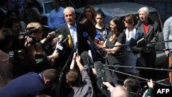 Boris Tadić daje izjavu novinarima nakon glasanja 20. maj 2012.