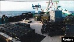 یک محموله توقیف شده سلاح ساخت ایران در سواحل یمن (عکس از آرشیو)