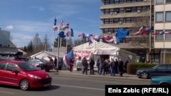 Šator pred Ministarstvom branitelja