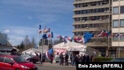 Šator veterana u Savskoj