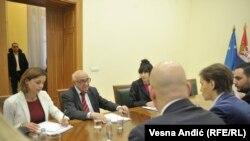 Susret Teodora Merona i premijerke Srbije Ane Brnabić u Beogradu