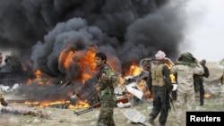 Pamje nga një sulm i mëparshëm në rrethinën e Tikritit në Irak