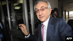 Serbian tycoon Miroslav Miskovic arrives at the Interior Ministry in Belgrade on December 3.
