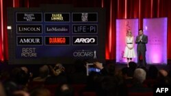"""""""Оскар"""" намзәтләрен игълан итү чарасын актриса Эмма Стоун һәм танылган режиссер Сет Макфарлейн алып барды"""
