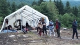 Bosnian authorities have been relocating hundreds of migrants from Bihac to a tent camp in Vucjak, about eight kilometers away.