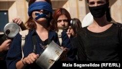ქალთა მიმართ ძალადობის წინააღმდეგ თბილისში გამართული ერთ-ერთი აქცია