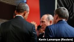 Барак Обама менен Владимир Путин Перуда, 20.11.2016