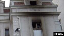 Beograd, Ambasada SAD dan nakon što je zapaljena u neredima, 22. februar 2008