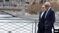 پیادهروی جان کری و محمدجواد ظریف در ژنو