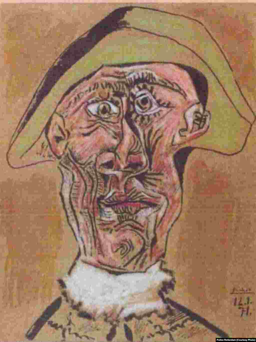 """Harlequin Head"" by Pablo Picasso, 1971"