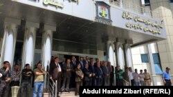 أعضاء مجلس القضاء الاعلى في كردستان في إعتصام باربيل