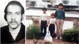 حمید حاجیزاده (چپ) و فرزندانش اروند، کارون، و ارس/ کارون در ۹ سالگی به اتفاق پدرش در جریان قتلهای زنجیرهای ۷۷ به قتل رسید.