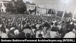 Митинг крымских татар. Симферополь. Октябрь 1992 года