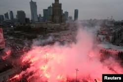 Manifestație de Ziua Independenței în Polonia