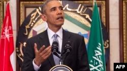 АҚШ президенті Барак Обама. Эр-Рияд, 21 сәуір 2016 жыл.