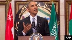 Барак Обама во время выступления в Эр-Рияде, 21 апреля 2016 год