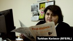RFE/RL Azerbaijani Service correspondent Khadija Ismayilova