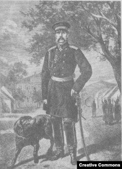 Император Александр II с любимой собакой