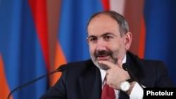 Премьер-министр Армении Никол Пашинян на пресс-конференции, Ереван 19 марта 2019 г.