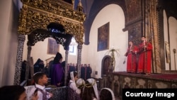Ծաղկազարդի տոնը Մայր Աթոռ Սուրբ Էջմիածնում:
