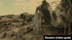Уламки збитого ІЛ-76 у 2014 році