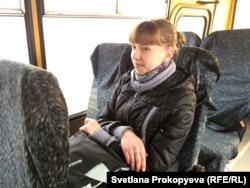 Настя едет в школу