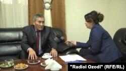 Мирослав Ниязов дает интервью Радио Озоди