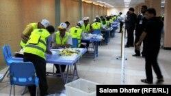 عمليات عد وفرز أصوات الناخبين في ميسان