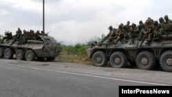 Վրաստան, օգոստոս, 2008թ․ - Ռուսական զորքերը Գորի քաղաքի մատույցներում