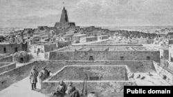 Тимбукту в 1853-м году. Рисунок немецкого путешественника Генриха Барта.