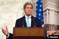 Джон Керри на пресс-конференции в Киеве