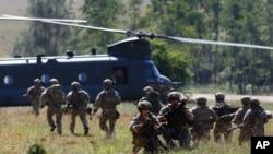 Soldați americani la manevre militare în Hohenfels, Germania. 26 august 2015