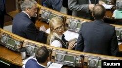 """Лидер фракции """"Батькивщина"""" Юлия Тимошенко. Киев, 16 февраля 2016 года."""