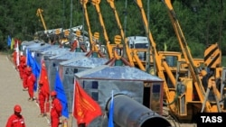 The unveiling ceremony for the construction of the Kazakhstan-China gas pipeline took place on July 9, 2008, in Kazakhstan's Almaty region.