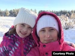 Ольга Охотникова с дочерью