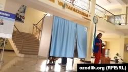 Избирательный участок в городе Самарканд.