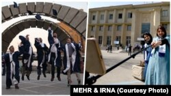 فارغالتحصیلان دانشگاه تهران (راست) و امیرکبیر