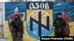 Бійці полку «Азов» на базі в селі Урзуф, Донецька область, листопад 2014 року (архівне фото)