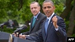 Թուրքիայի նախագահ Ռեջեփ Էրդողանն ու Միացյալ Նահանգների նախագահ Բարաք Օբաման, արխիվ