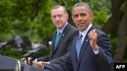 Президент США Барак Обама и президент Турции Реджеп Тайип Эрдоган.