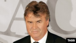Dutch soccer coach Guus Hiddink