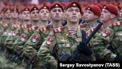 Генеральная репетиция парада Победы на Красной площади, Москва, Россия