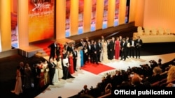 Усе ляўрэаты Канскага кінафэстывалю 2012 на сцэне