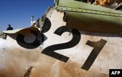 Останки Airbus A321 на территории Синайского полуострова