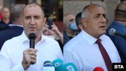 Prezident Rumen Radev (solda) və baş nazir Boyko Borisov