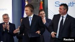 Tomislav Nikolić, Alexei Miller, Aleksandar Vučić i Dušan Bajatović