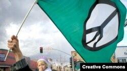 تظاهرات ضد جنگ در سانتا باربارا