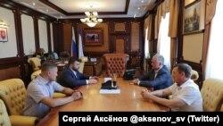 Гагин, Пушилин, Аксенов, Гоцанюк на встрече в Симферополе