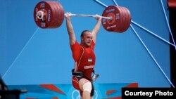 Ўзбекистонлик штангачи Руслан Нуриддинов.
