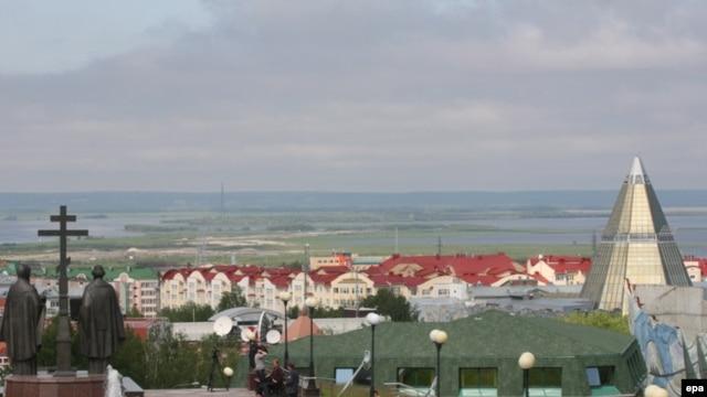 Panoramic view of khanty mansiysk